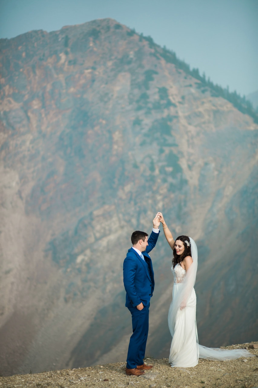 Kicking Horse Mountain Resort Wedding photographer Karly and Curtis